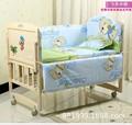 Promotion! 10PCS Baby Boy Crib Cot Bedding Set Nursery Bed Baby Quilt Bumper Sheet (bumpers+matress+pillow+duvet)