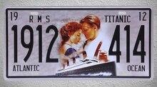 1 pc Titanic film movie love ocean car license Tin Plates Signs Brussel wall man cave Decoration Metal Art Vintage Poster стоимость