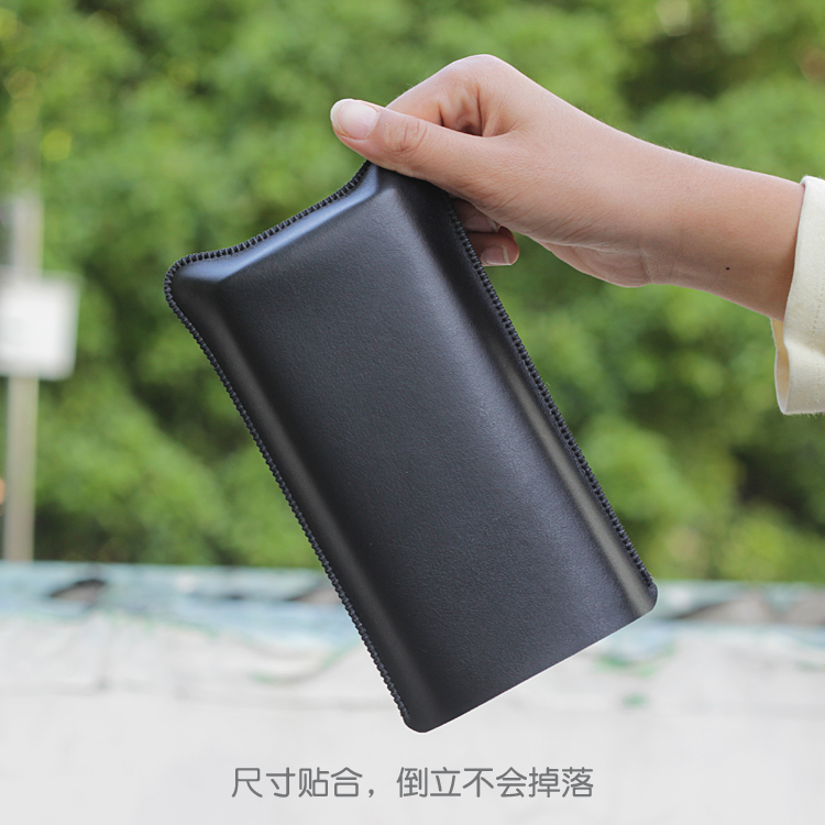 MIPower Bank3 Universal Fillet Holster Phone Straight Leather Case Retro Simple Style For Xiaomi MI Power Bank 3 Pouch Case