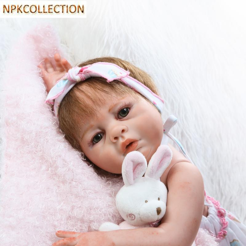 NPKCOLLECTION 18 Inch Realistic Silicone Reborn Dolls Babies Bonecas Baby Alive Dolls for Girls Christmas Gift/New Year's Toy npkcollection 50 cm real dolls baby alive bonecas realistic silicone reborn dolls soft toy for girls birthday xmas gift juguete