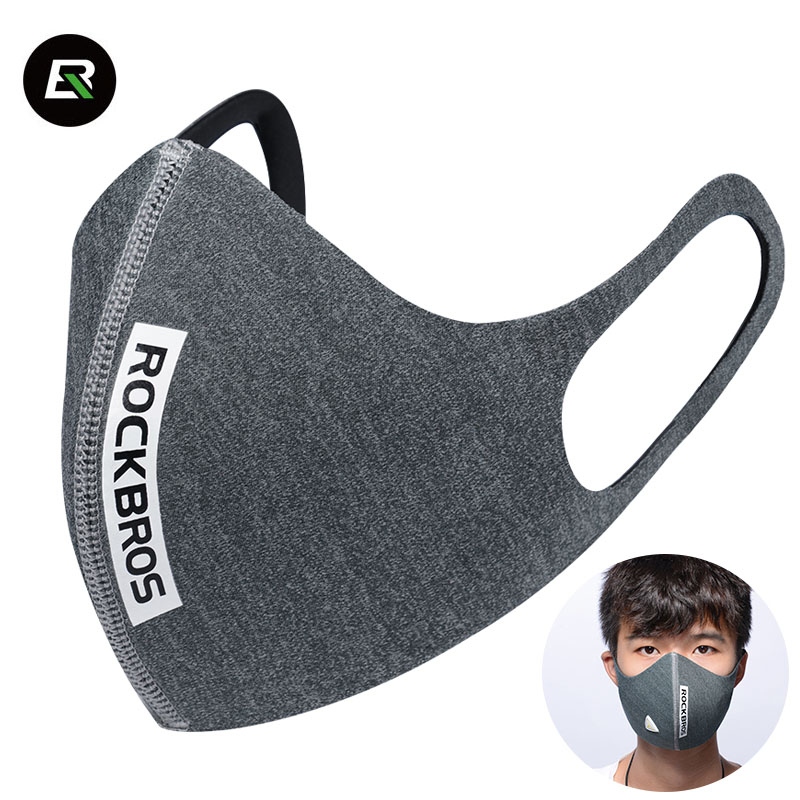 Rockbros Cycling Face Mask Activated Carbon Filter Bike Bicycle Mask PM 2.5 Dustproof Sk ...