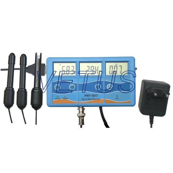 High accuracy Multifunction Multi-parameter Meter PH-027 PH027 TDS/PH/EC/CF Meter Water Quality analyzer PH Tester 6 in 1 multi function water quality meter tester ec cf tds ph degree c and f