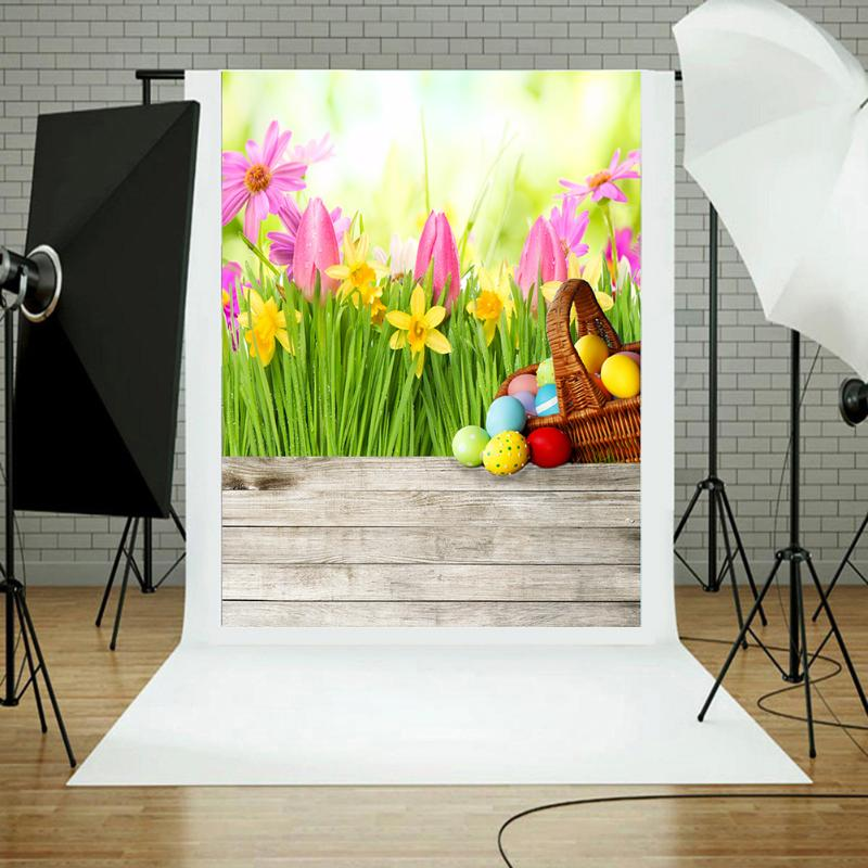 Easter Eggs Flowers Photography Backgrounds Newborn Baby Photography Background Backdrop Photographic Backdrops For Photo Studio newborn photography background blue sky white clouds photo backdrop vinyl balloons scattered petals backgrounds for photo studio