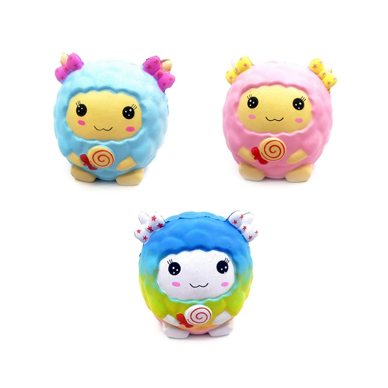 Starry Sky Cartoon Big Sheep Slow Rising Toy Squeeze Stress Reliever Fragrance Toy Birthday Christmas Gift