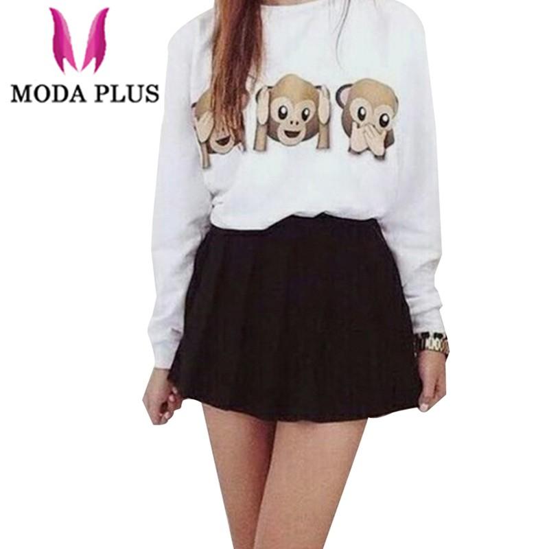 Autumn-2015-Casual-Hoodies-Women-Sweatshirt-3D-Emoji-Monkey-Printed-Sports-Womens-Causal-O-neck-Hoodie