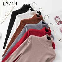 Women Turtleneck Sweater Knitwear Thick Winter Warm Women's Turtleneck Pullover Sweater For Women White Sweaters Female 2019