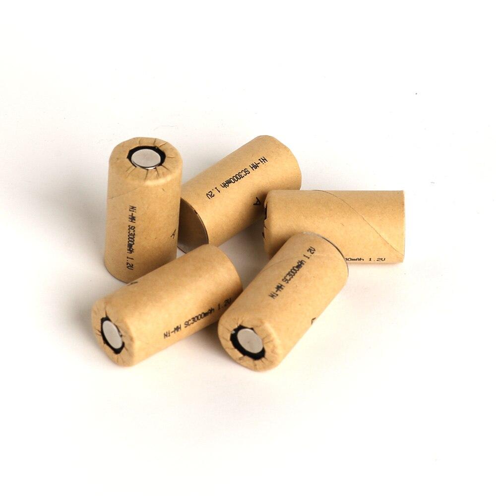 SC3000mAh 10 pièces, cellule de batterie haute puissance, batterie d'outil électrique, cellule d'alimentation, Ni Mh, taux de charge 10C. batterie rechargeable, cellule de batterie