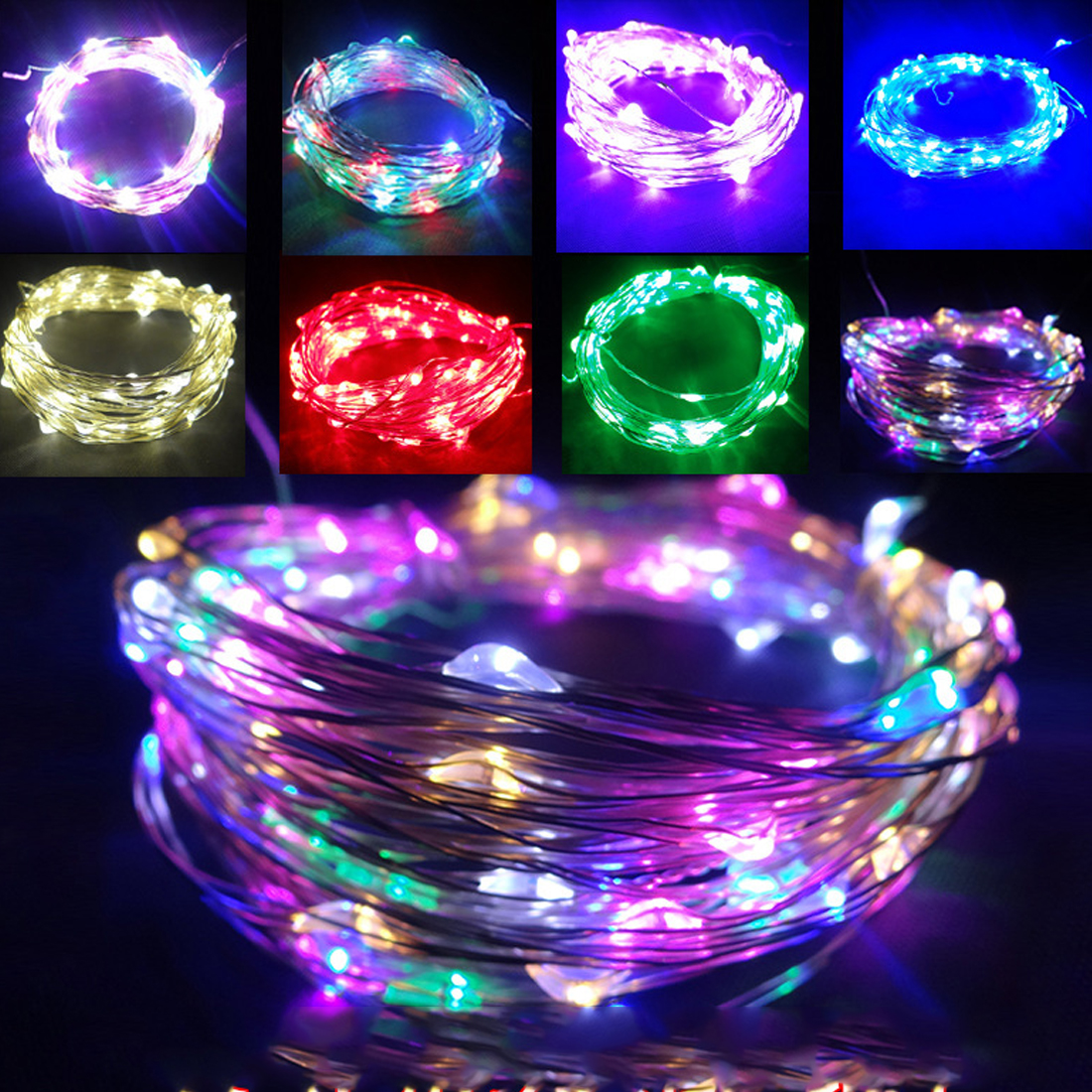 5/10M USB LED String Light Waterproof LED Copper Wire String Holiday Outdoor Fairy Lights For Christmas Party Wedding Decoration