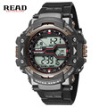 READ brand new top Wrist men sports Stop watch Round Dial Large 55mm Digital  week date alarm Relogio round