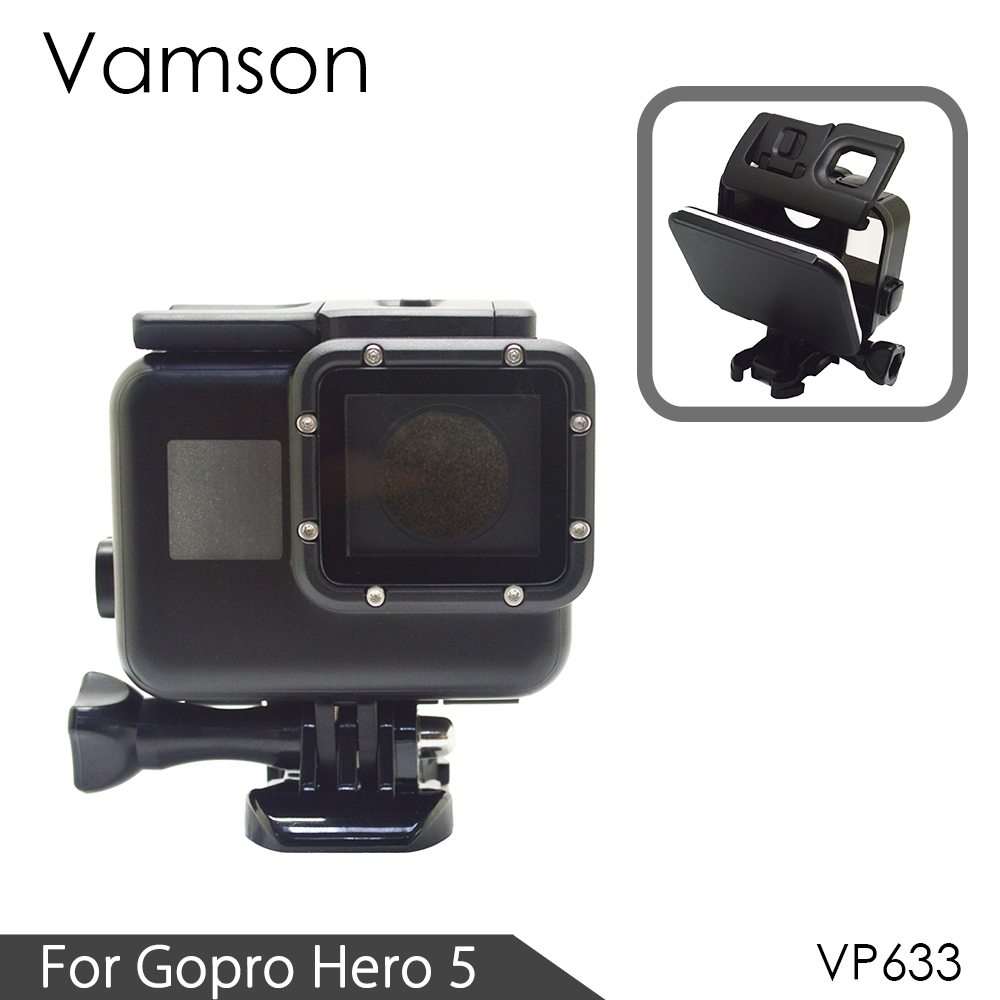 Vamson For Gopro Hero 5 Classic Black Color Waterproof Housing Case Underwater 60M Diving For Gopro