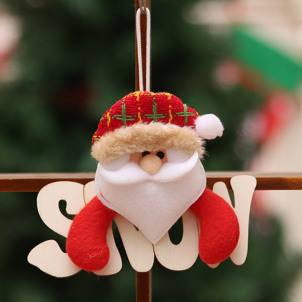 Personalized christmas ornaments Gift Santa Claus Snowman Tree Toy Doll Hang Decorations ...