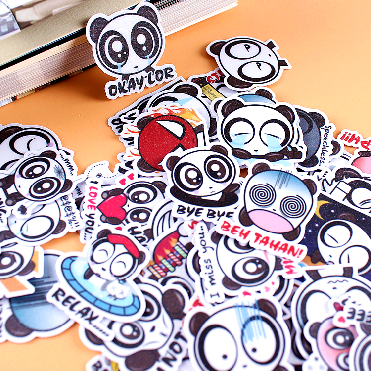 40pcs Creative kawaii self-made big eyes panda stickers/ beautiful stickers /decorative sticker /DIY craft photo albums big beautiful eyes косметический набор косметический набор big beautiful eyes