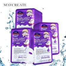 цена на pearl sheet FACE mask korean Whitening cosmetics facemask  skin care  Moisturizing masks tony moly