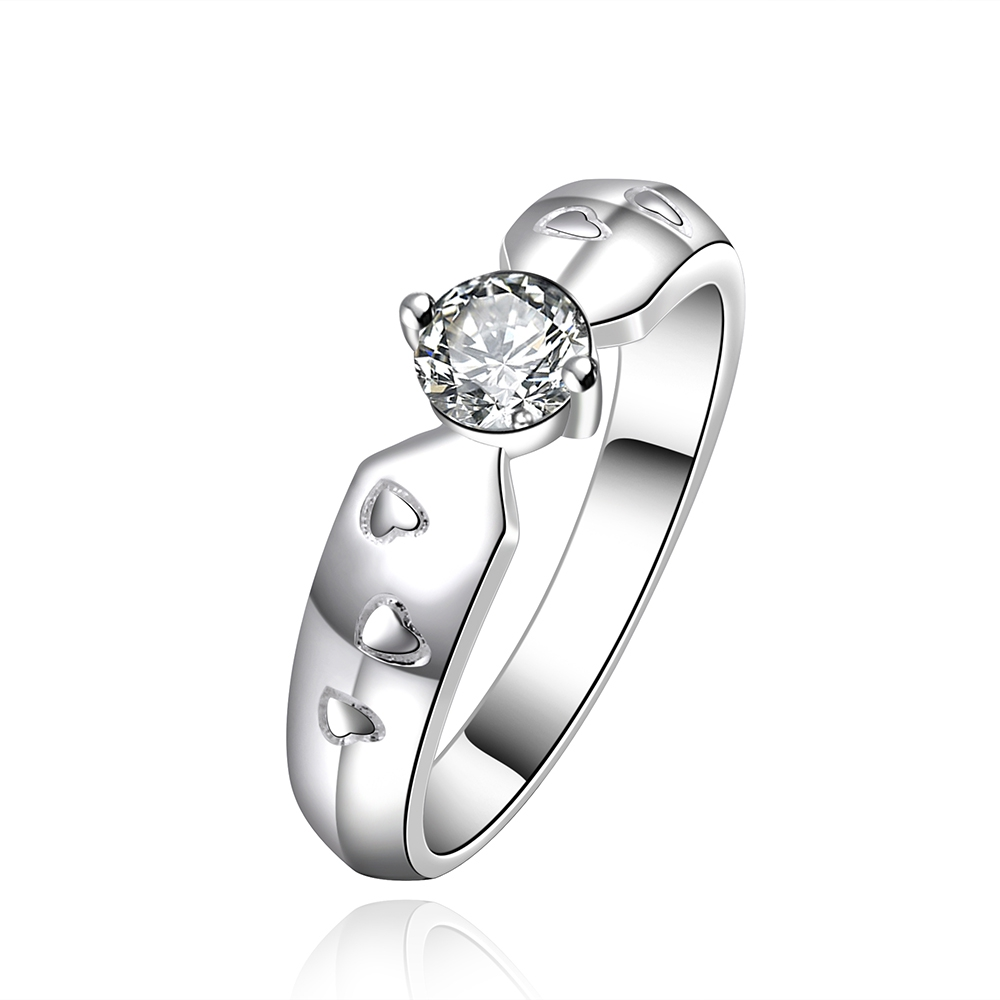 Free Shipping is not allergic classic simple silver jewelry wholesale claw with rounded zircon