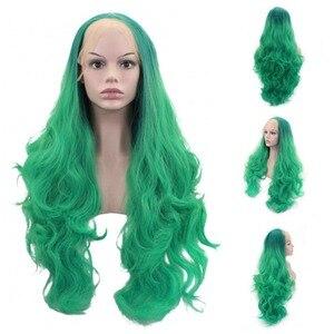Image 4 - JOY&BEAUTY 26inch Long Wavy Synthetic Lace Front Wig Glueless Heat Resistant Swiss Glueless 150% Density For Women