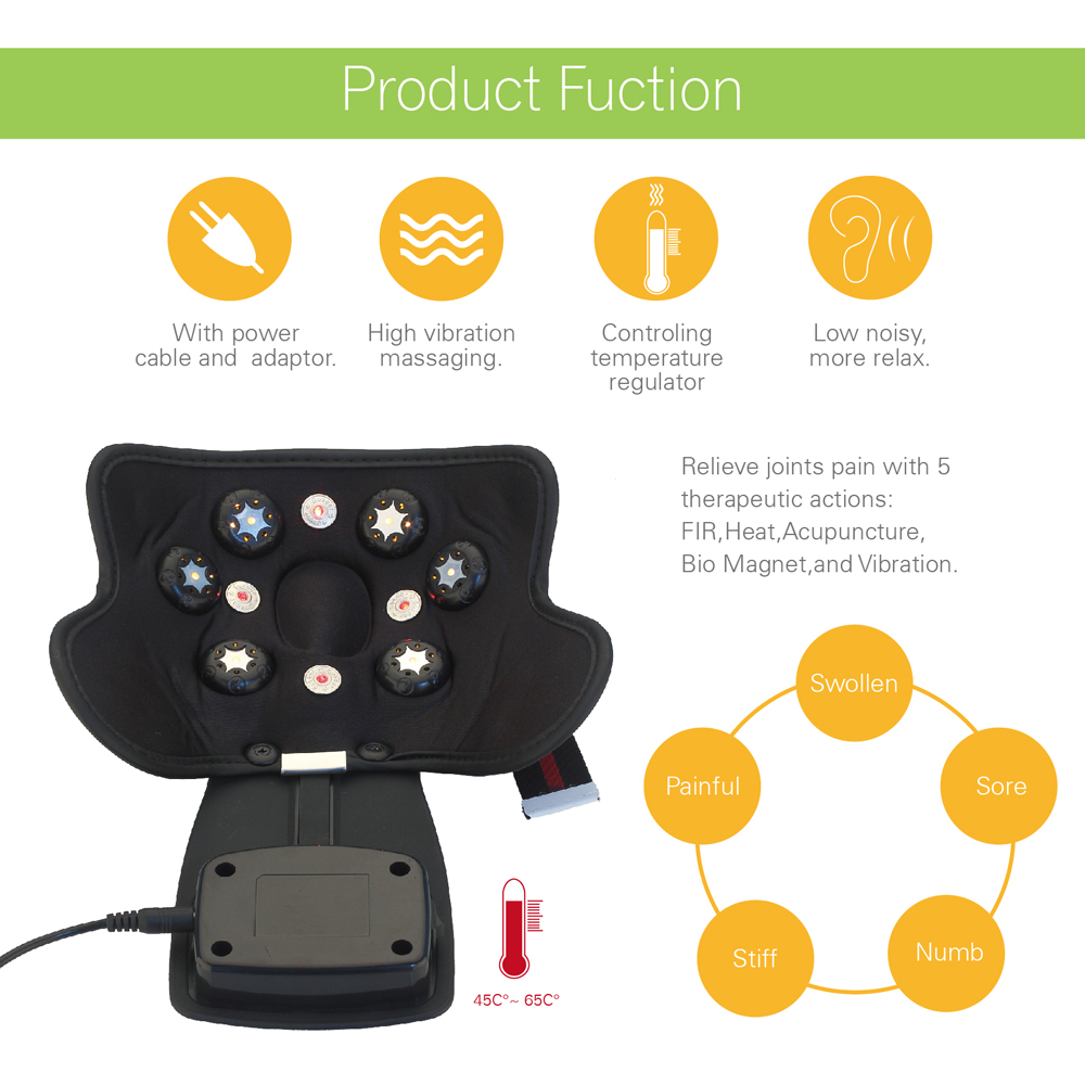 KIKI electric Physiotherapy instrument for knee joint  Hot compress knee massage  Electrothermal kneepad Home rehabilitation