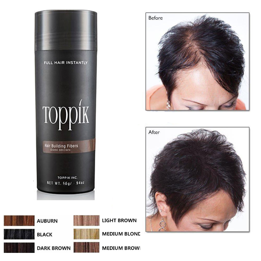 Women Men Natural Hair Root Cover Up Hair Thickening Buildin