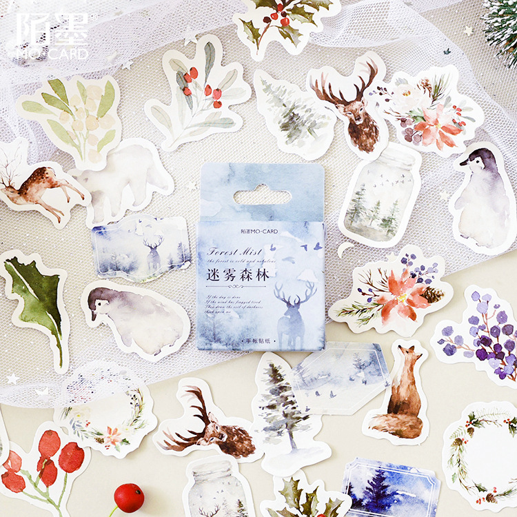 45 Pcs/pack Forest Fairy Story Decorative Adhesive Stickers Scrapbooking Diy Diary Album Stick Label Stationery
