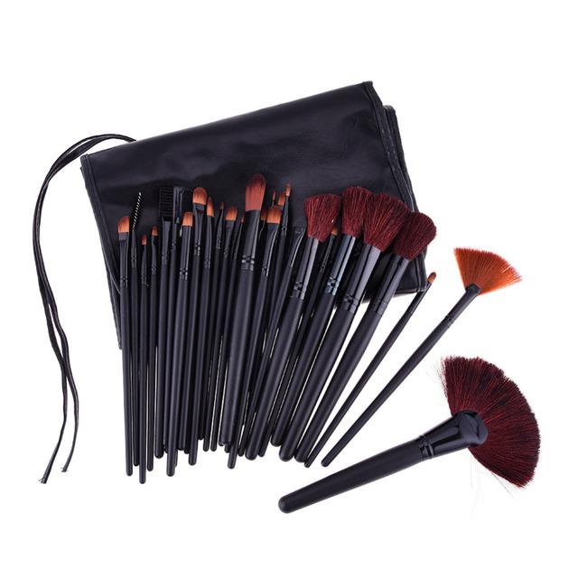 32 pçs/set Maquiagem Jogo de Escova Profissional Fundação Blush Em Pó Sombra Lipliner Delineador de Cílios Pincéis de Maquiagem Ferramentas + Saco