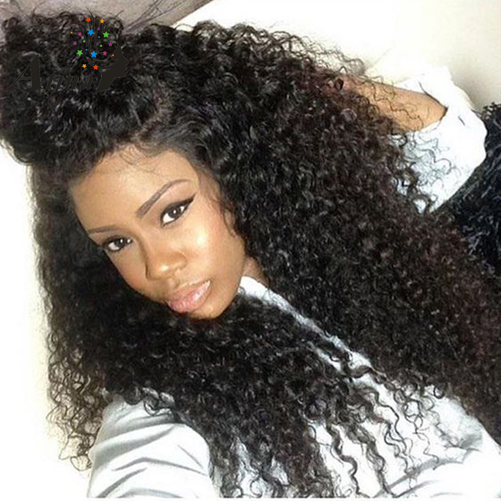 Lace Front Human Hair Wig Natural Color Pre Plucked 250% Density Brazilian Curly Remy Wig For Women Afro Kinky Virgin Hair Atina-in Human Hair Lace Wigs from Hair Extensions & Wigs    1