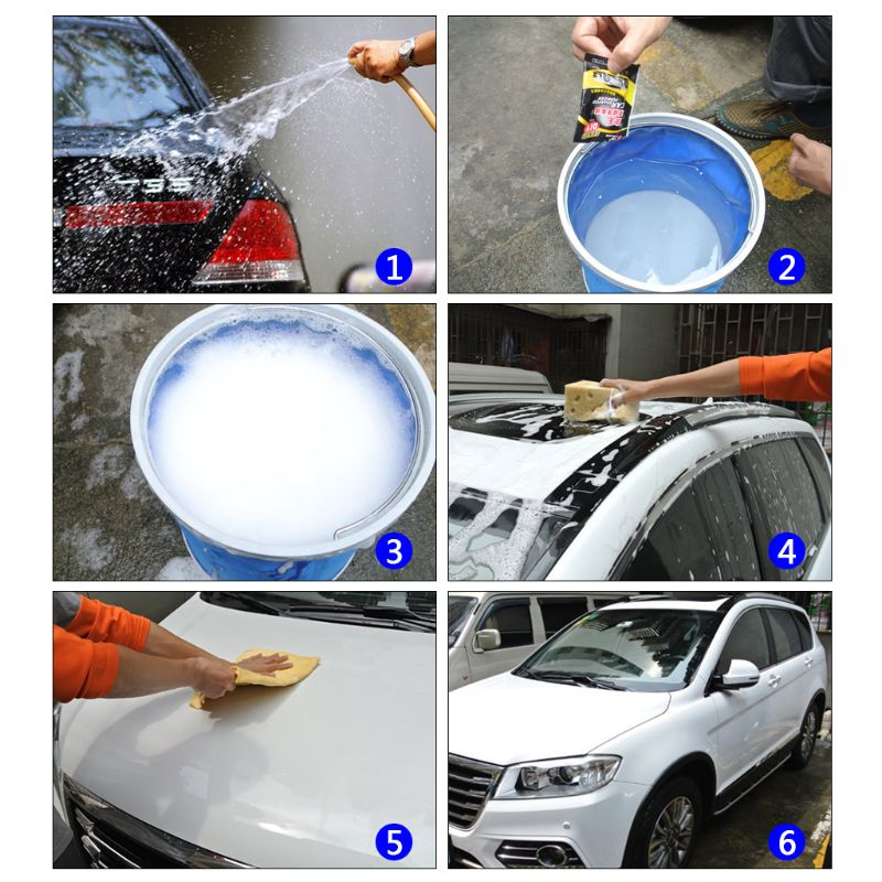 Image 3 - 5Pcs Powder Car Wash Shampoo Universal Cleaning Car Shampoo Multifunctional Cleaning Tools-in Car Washer from Automobiles & Motorcycles