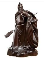 Black sandalwood carving Guan Gong statue pendulum solid wooden martial arts God Lucky Buddha Guan Yu