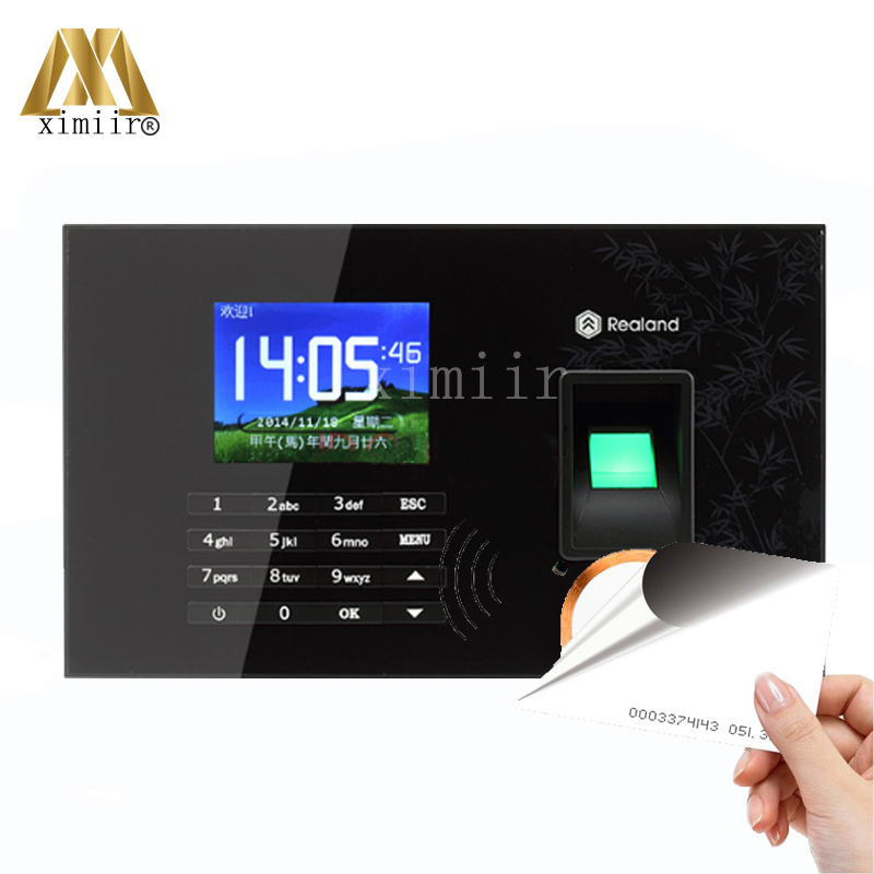 Color Screen TCP/IP Fingerprint Time Attendance A-C051 Time Recording 125KHz RFID Card ReaderColor Screen TCP/IP Fingerprint Time Attendance A-C051 Time Recording 125KHz RFID Card Reader
