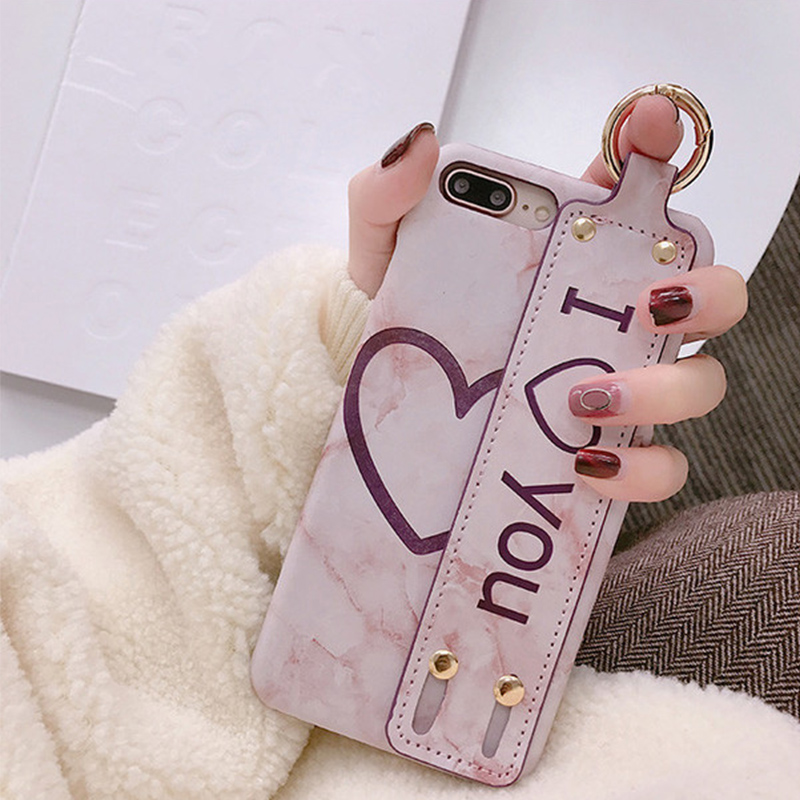 Luxury wristband shell X Apple6 mobile phone iPhone7plus/8/6s personality cute female models