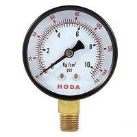 Vervangen Ronde Vormige Wijzerplaat 0-150 Psi 0-10 Kgf/Cm2 Pneumatische Compressed Luchtdrukmeter 1/4