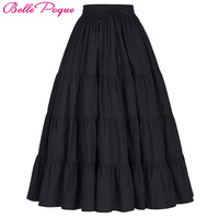 Tutu Skirt Silps Swing Rockabilly Petticoat Wide Hem Cotton Maxi Skirt Long Retro Skirt Petticoat Underskirt