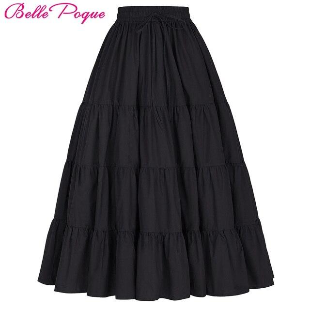 Tutu Skirt Silps Swing Rockabilly Petticoat Wide Hem Cotton Maxi Skirt Long Retro Skirt Petticoat Underskirt for Wedding Bridal