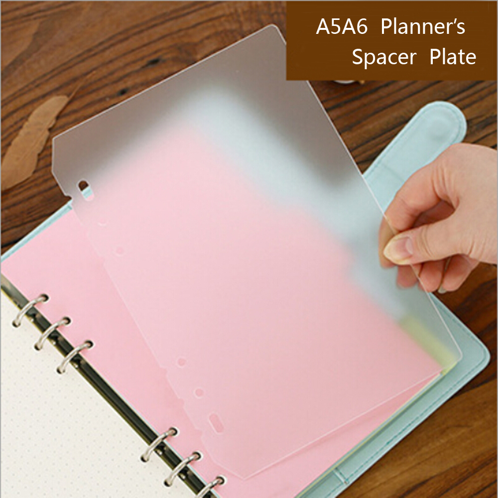 A5A6 PP Frosted Planner's Inner Pages Spacer Plate Diario Binder Planner Concise Filler Paper PP 6 Holes Separator Board Page