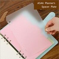 A5A6 PP Givré de Planificateur Intérieure Pages Spacer Plaque Diario Liant Planificateur Concise Remplissage Papier PP 6 Trous Séparateur Conseil Page
