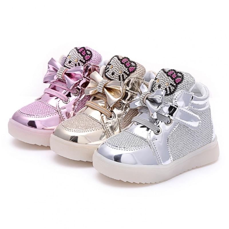 2019 zapatos para niños niñas llevó zapatos de dibujos animados Kt - Zapatos de niños