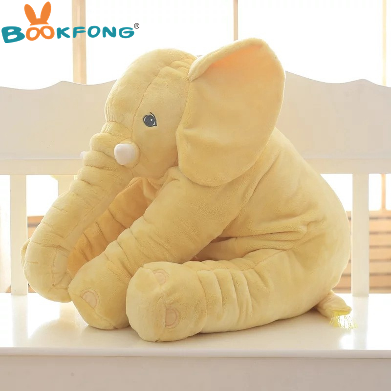 BOOKFONG 1PC 40/60cm Infant Soft Appease Elephant Playmate Calm Doll Baby Appease Toys Elephant Pillow Plush Toys Stuffed Doll 10