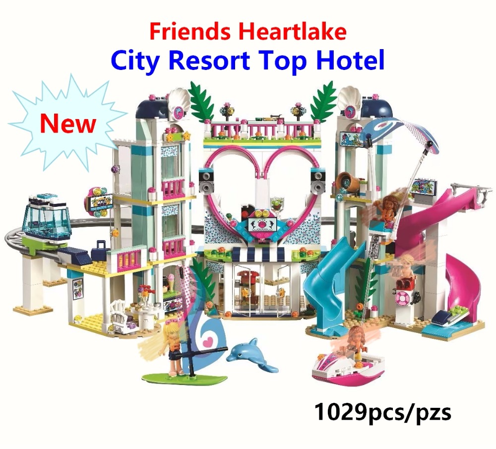 2019 New Friends Heartlake City Resort Top Hotel Building Blocks Kit for Kids Compatible With Lego