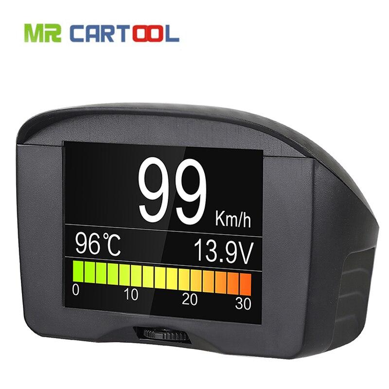 AUTOOL X50 Além Carro HUD OBD Inteligente Medidor Digital & Código de Falha de Alarme Digital Tensão de Calibre Da TEMPERATURA da Água Medidor de Velocidade headUp Exibição