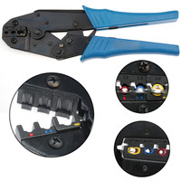 1PC Insulated Terminals Ratchet Crimping Pliers 1.0mm2/2.5mm2/6.0mm2 Cable Capacity Crimp Hand Tools For AWG 20 10 Connectors