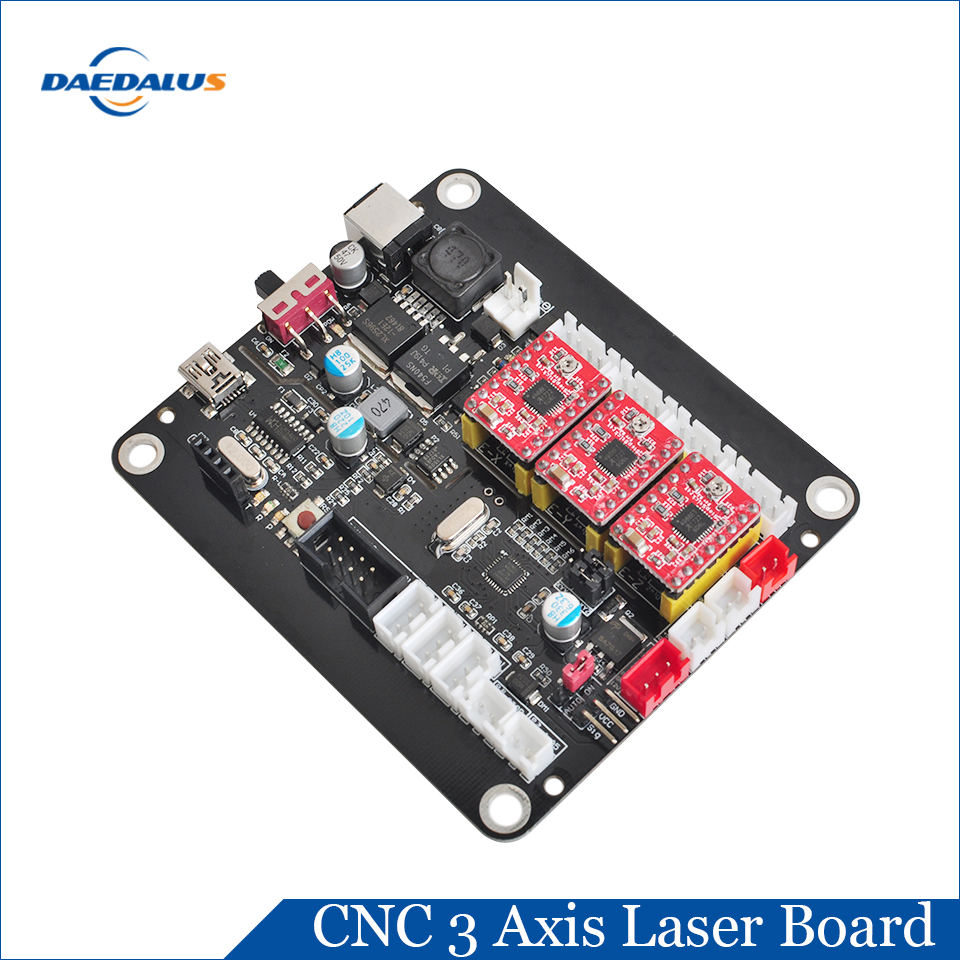 Daedalus GRBL Controller Board 3 Axis CNC Controller Offline Controller Laser Board For 3018 1610 2418 Engraving MachineDaedalus GRBL Controller Board 3 Axis CNC Controller Offline Controller Laser Board For 3018 1610 2418 Engraving Machine