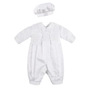 Image 2 - ベビーボーイズベビードレス幼児少年結婚式誕生日パーティーロンパースベスト帽子フォーマル紳士スーツ洗礼ベビー少年服