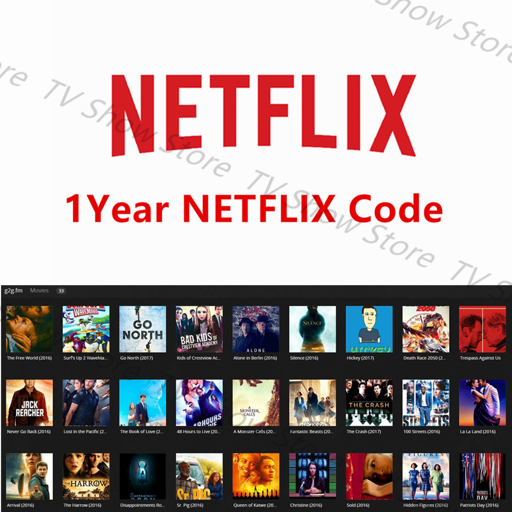 1 Year English Netflix account prmie/HULU/Directv for Android tv box  Arabic/French/Germany IPTV