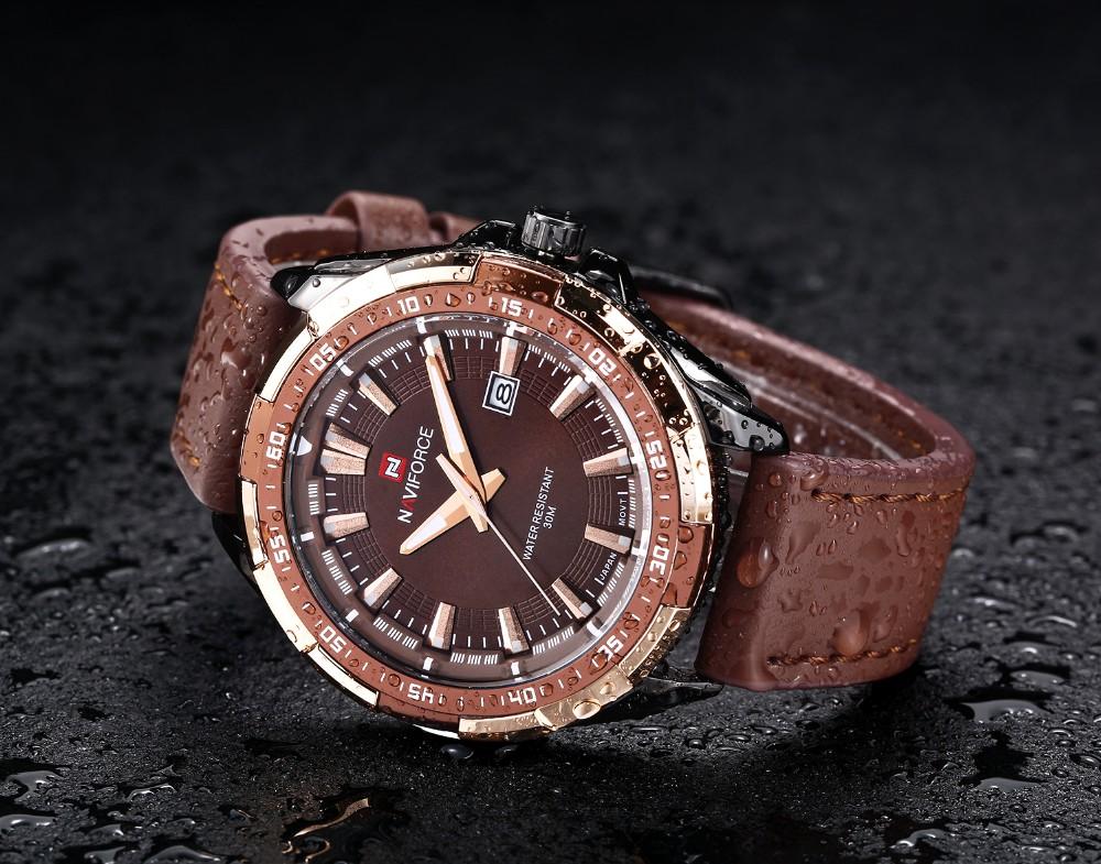 Mens Watches Top Brand Luxury NAVIFORCE Sport Men's Quartz Watch Waterproof Wristwatch Leather Male Clock Relogio Masculino 5