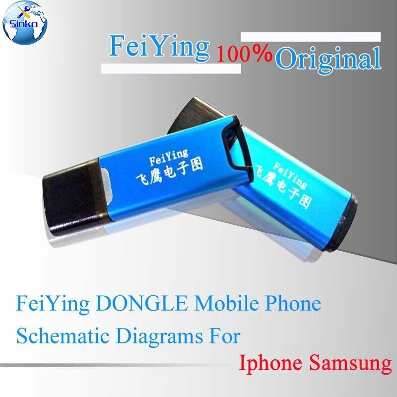 100% schémas de schéma de téléphone FeiYing DONGLE Original pour iPhone HTC LG iPad Samsung Assistant de réparation de carte de Circuit imprimé