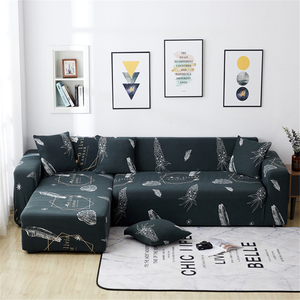 Image 5 - Parkshin Fashion Leaf Slipcover Stretch Sofa Covers Furniture Protector Polyester Loveseat Couch Cover Sofa Towel 1/2/3/4 seater
