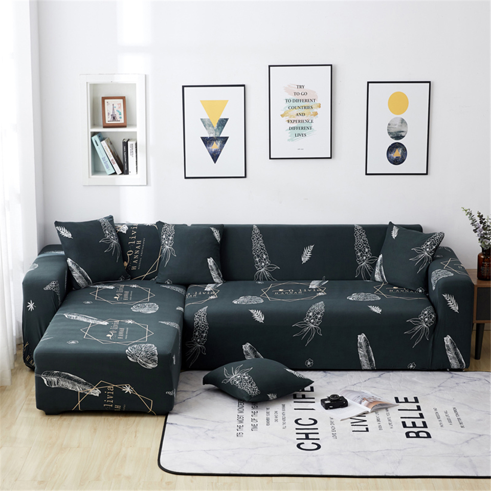 Image 5 - Parkshin Feather Slipcover Stretch Sofa Covers Furniture Protector Polyester Loveseat Couch Cover Sofa Towel 1/2/3/4 seater-in Sofa Cover from Home & Garden