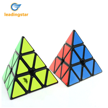 LeadingStar Cyclone Boys Pyraminx Plastic magico Cube Black Hot Selling Educational Brain Teaser Twisty Toy for