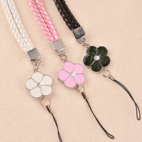 38 cm Mobile Phone Straps Lanyard Accessories Lobster Clasp Neck Lanyards for Keys Id Cards Sports Nylon Weave Lanyards Flowers Cellphones & Telecommunications