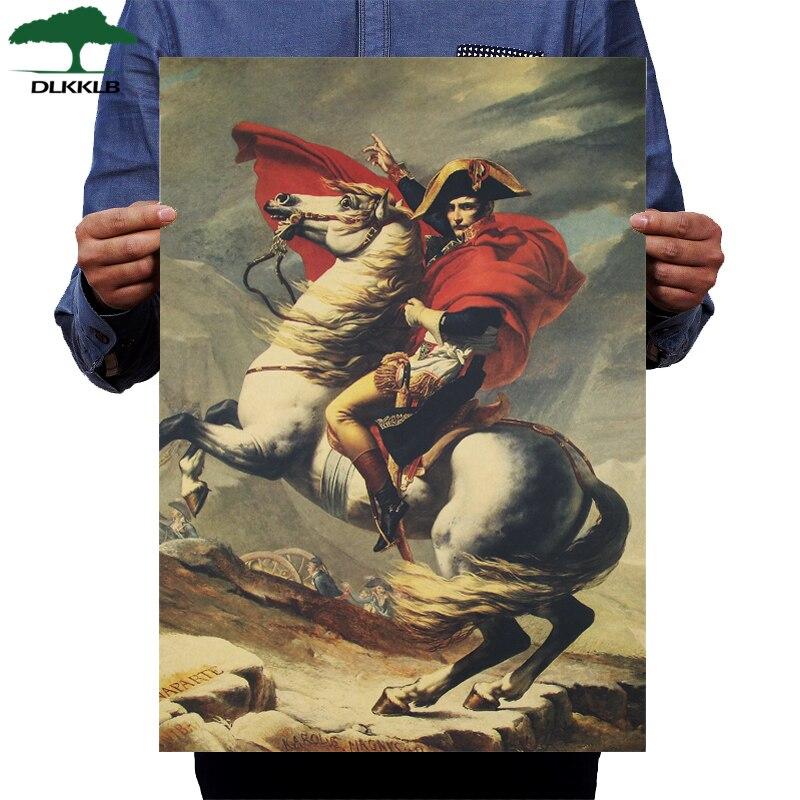 DLKKLB Napoleon Bonaparte Vintage Poster Military Classic Movie Art Decorative Wall Sticker Bar Cafe Home Decorative Painting