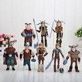 8 pçs/set 10-13 cm Como treinar O Seu Dragão 2 Figuras de Ação PVC Figuras Clássicas Brinquedos para Crianças Presente saco do opp