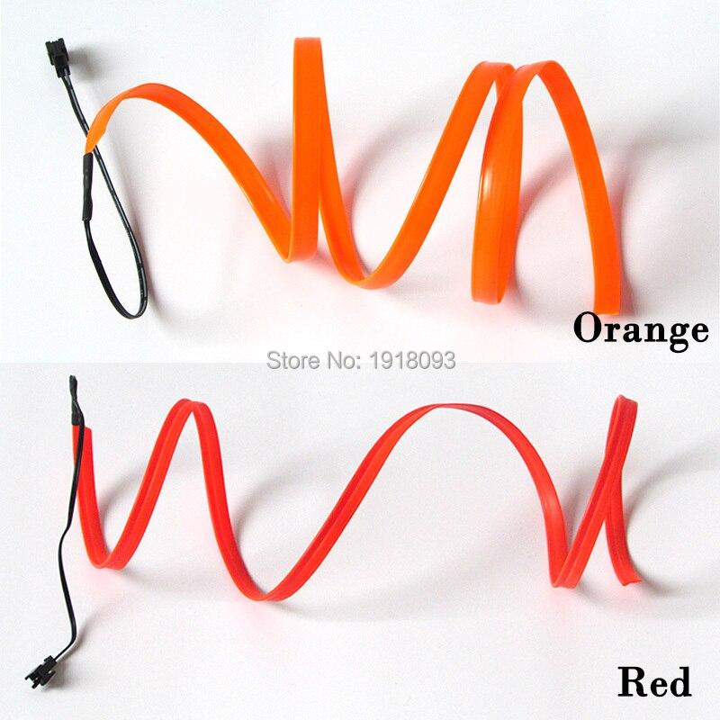 84b69fefe824fc ✅2.3mm-jupe 10 Mètre 10 Couleur Sélectionnez LED Bande EL Fil Tube ...